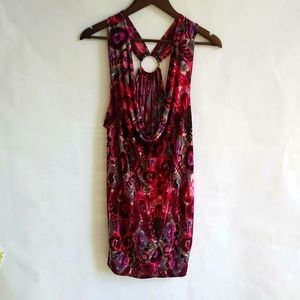 Dots 3X Pink Red Tunic Tank Top